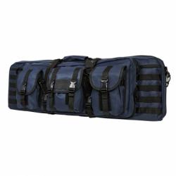 """Double Carbine Case 36"""" - Blue with Black Trim"""