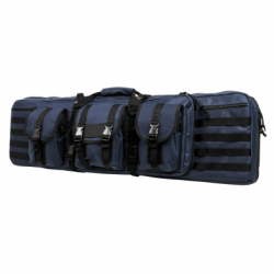 """Double Carbine Case 42"""" - Blue with Black Trim"""