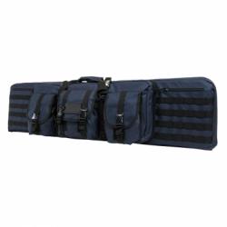 """Double Carbine Case 46"""" - Blue with Black Trim"""