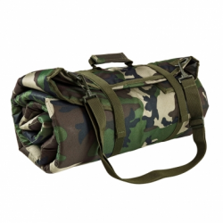 Roll Up Shooting Mat - Woodland Camo
