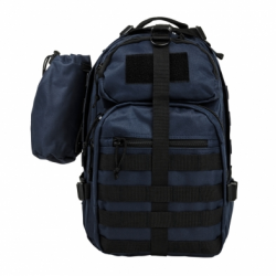 Sling Backpack - Blue with Black Trim