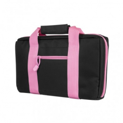 Discreet Pistol Case - Black with Pink