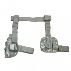Drop Leg Holster& Mag Pouch X4 - Digital Camo