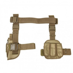 Drop Leg Holster & Mag Pouch X4 - Tan