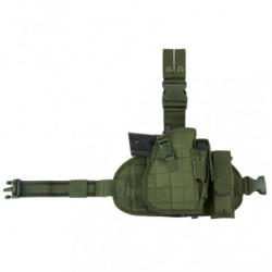 2956 Drop Leg MOLLE Panel/Holster/MagPch-GRN