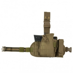 2956 Drop Leg MOLLE Panel/Holster/MagPch-Tan