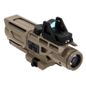 GEN3 USS 3-9X40 Scope w/Red Dot/P4 Sniper-Tan
