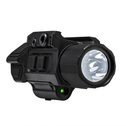 GEN3 Pistol Flashlight w/Strobe & Green Laser