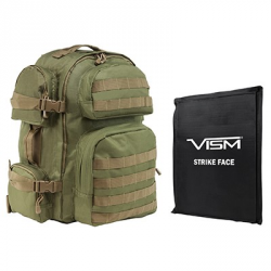 "2911 Backpack with 10""X12"" Soft Panel Green Tan Trim (Build to Order)"