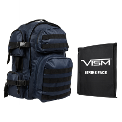 "2911 Backpack with 10""X12"" Soft Panel Blue Black Trim (Build to Order)"