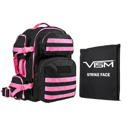 "2911 Backpack with 10""X12"" Soft Panel Black Pink Trim (Build to Order)"