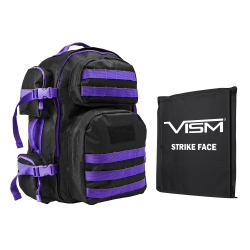 "2911 Backpack with 10""X12"" Soft Panel Black Purple Trim (Build to Order)"