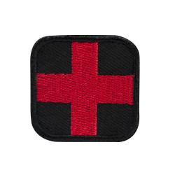"First Aid Patch 1.5"" - Red/Black"