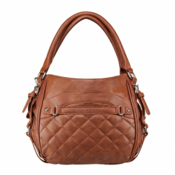 Quilted Hobo Medium - Brown