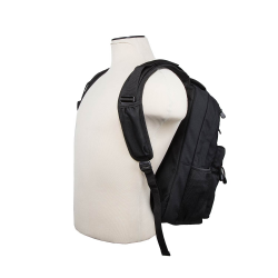 BACKPACK MODEL 3003 WITH FRONT AND REAR COMPARTMENT FOR SOFT BODY ARMOR (NOT INCLUDED)/ BLACK