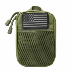 Molle Utility Pouch with U.S. Patch - Green
