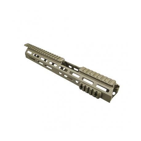 "Ar15 M-Lok® Drop In Handguard - 13.5""L Carbine Extended Handguard Length - Tan"