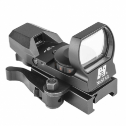 Red & Green Reflex Sight with 4 Reticles and QR Mount - Black