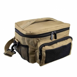 Small Insulated Cooler Lunch Bag With Molle/Pal Webbing - Tan