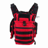 1st Rspndrs Utlty Bag - Red with Black Stripe