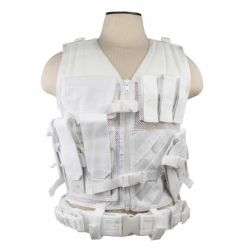 Tactical Vest - White - M-XL