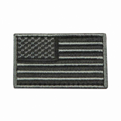 USA Flag Patch Embroid - Black