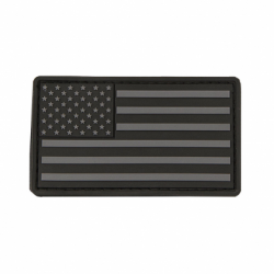 USA Flag Patch PVC Black