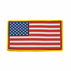 USA Flag Patch PVC - Red White & Blue