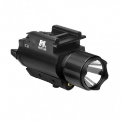 Tactical Red Laser Sight & 3W 200 Lumens LED Flashlight With Weaver Quick Release