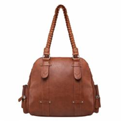 Braided Shoulder Bag- Brown