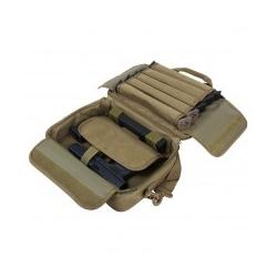 Double Pistol Range Bag/ Tan