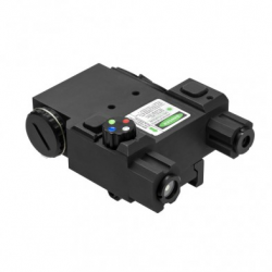Green Laser & 4 Color NAV LED w/QR Mount/BLK