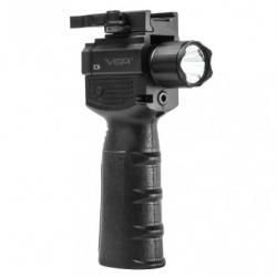 Vert Grip w/Strobe Flashlight & Green Laser
