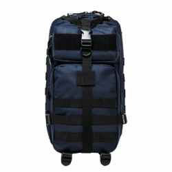 Small Backpack - Blue with Black Trim