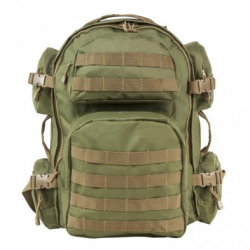 Tactical Backpack - Green with Tan Trim