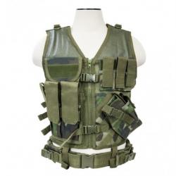 Tactical Vest [MED-2XL] - Woodland Camo
