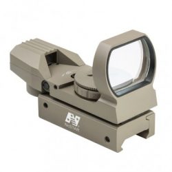 Red & Green Four Reticle Reflex Optic - Tan