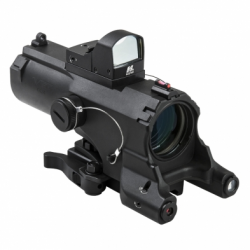 ECO 4XScope/Laser & NAV LED/Micro Green Dot/Black (Build to Order)