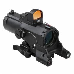 ECO 4XScope/Laser & NAV LED/Micro Red Dot/Black (Build to Order)