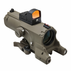 ECO 4XScope/Laser & NAV LED/Micro Red Dot/Tan (Build to Order)