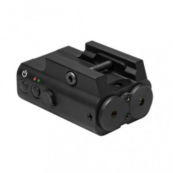 Green and Red Laser Box with Rail Mount