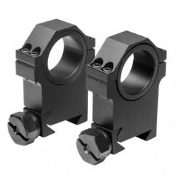 "30mm X 1.5""H HD Weaver Rings - Black"