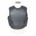 Black Concealed Carrier Vest with two Level IIIA Ballistic panels
